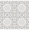 mandala coloring zentangl seamless ornament relax vector image vector image