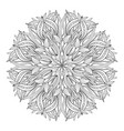 mandala flower vintage decorative elements vector image vector image