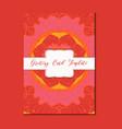 mandala vintage template card vector image vector image