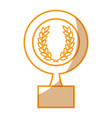 medallion with wreath award vector image