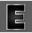 Metal grid font - letter E vector image