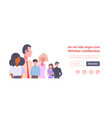 mix race people group business meeting vector image