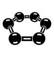 molecule medical icon simple black style vector image vector image