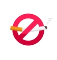 No smoking sign dont smoke icon badge vector image