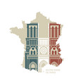 notre dame de paris cathedral in colors the vector image vector image