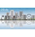 Orlando Skyline with Gray Buildings Blue Sky vector image vector image