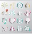 paper cut symbols origami icons vector image vector image