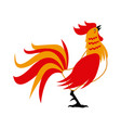 red rooster for chinese celebration usable for vector image vector image