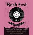 rock fest announcement vector image vector image