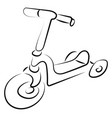 scooter drawing on white background vector image vector image