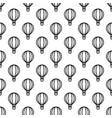 seamless air balloon pattern monochrome vector image vector image