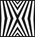 seamless pattern with black and white lines vector image vector image