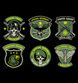 set bundle military badge vector image vector image