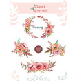 set of summer bouquets and wreaths vector image vector image