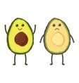 set with cartoon avocado vector image