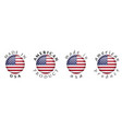 simple made in usa american product 3d button vector image vector image