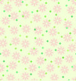 spring flower pattern with diamonds seamless vector image