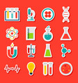 stickers medical science vector image vector image