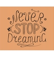 Striped background with the words Never stop vector image vector image