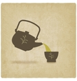 tea ceremony old background vector image vector image