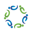 Teamwork harmony people logo vector image vector image