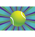 Tennis Ball Background vector image vector image