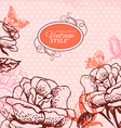 Vintage floral background vector | Price: 1 Credit (USD $1)