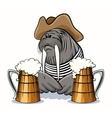 Walrus and Beer vector image