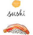watercolor sushi vector image vector image