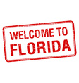 welcome to Florida red grunge square stamp vector image vector image