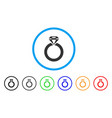 jewelry ring rounded icon vector image