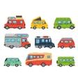 Vans vehicle vector image
