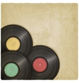 vinyl record old background vector image