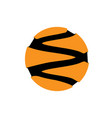 abstract circle logotype orange from black vector image