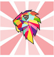 abstract coloring head business symbol vector image