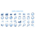 analysis chart data growth increase line seo icon vector image vector image