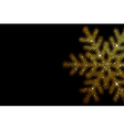 background with glowing snowflake mosaic vector image vector image