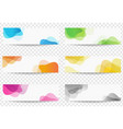 banner set with colorful blobs transparent vector image vector image