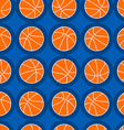 Basketball sports seamless pattern vector image vector image