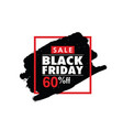 black friday in frame color vector image vector image