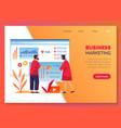 business marketing company development management vector image