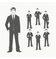 businessman in suit vector image
