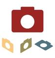 Camera icon set Isometric effect vector image