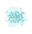cartoon milk icon in comic style milk drink vector image