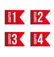 chapter bookmark icon set vector image vector image