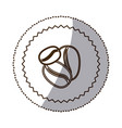 coffee grains icon image vector image