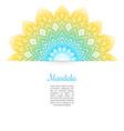 Color Mandala background vector image