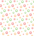 Color smiley faces seamless pattern background vector image