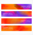 colorful holi banners set vector image vector image