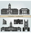 Columbia landmarks and monuments vector image